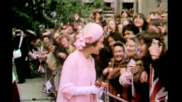 Ex royal butler jailed for child abuse S28110601 London EXT Queen Elizabeth II chatting to crowds during walkabout on silver Jubilee Day 29781 London...