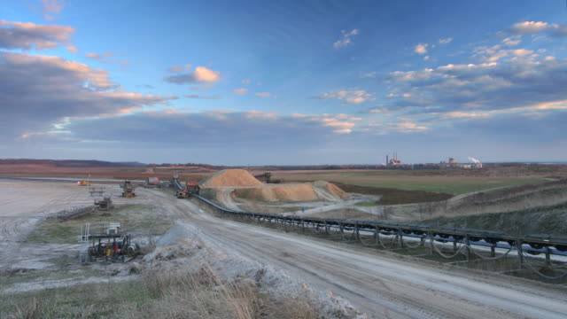 (timelape) ex surface mine - surface mine stock videos and b-roll footage