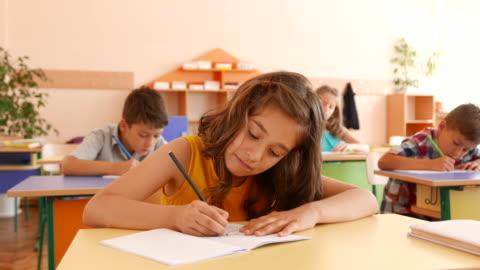 exam in classroom - elementary school stock videos & royalty-free footage