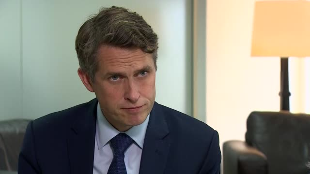 exam results controversy: gavin williamson interview; england: london: westminster: int gavin williamson mp interview sot . - q. last week exams are... - patience stock videos & royalty-free footage
