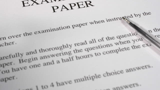 examination paper - exam stock videos & royalty-free footage