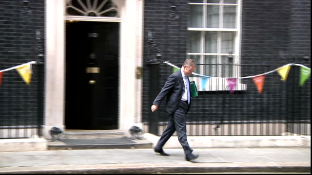 examination results: government accused after fall in pass rate; downing street: ext michael gove mp from number 10 - general certificate of secondary education stock videos & royalty-free footage