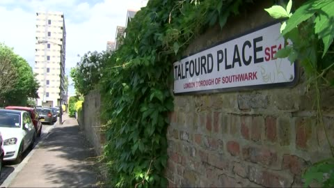 ex-boyfriend found guilty of killing girlfriend's unborn baby; t03121504 england: london: peckham: talfourd place: ext road sign 'talfourd place' on... - peckham stock videos & royalty-free footage