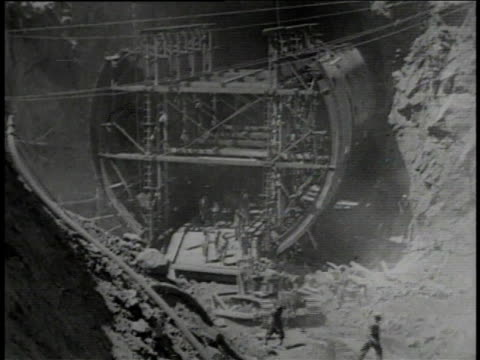 excavating / pouring cement / blasting - tunnel stock videos & royalty-free footage