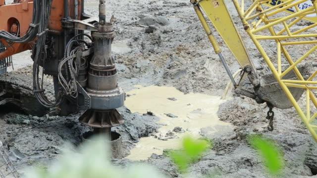 Pelle et Pile driver rigs de forage machine pour structures de bâtiments de pied