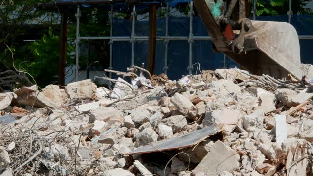 excavator 工事現場で - 残骸点の映像素材/bロール