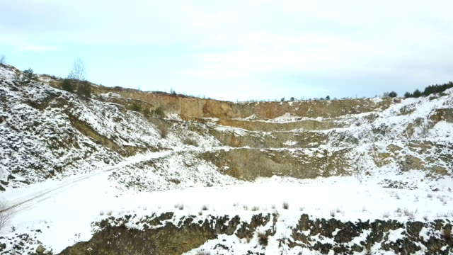 excavator in quarry - pit mine stock videos and b-roll footage