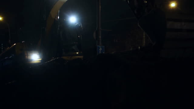 excavator 、建設現場でのご宿泊 - 建設機械点の映像素材/bロール