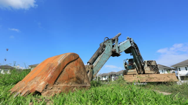 excavator tractor, time lapse - weathered stock videos and b-roll footage