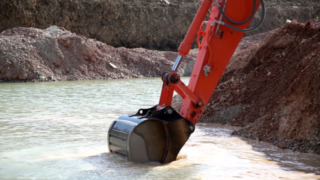 excavator - dollop stock videos and b-roll footage