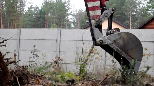 excavator work