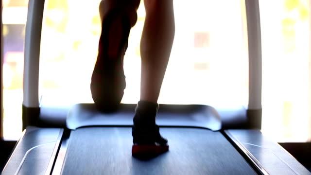 Excercising Treadmill Running Gym Health Club Fitness