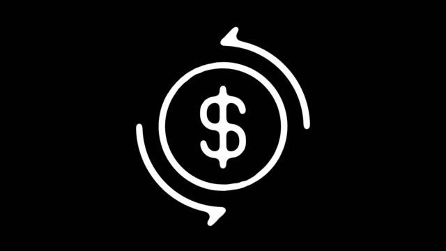 vídeos de stock e filmes b-roll de exchange rate blackboard line animation with alpha - ciclo