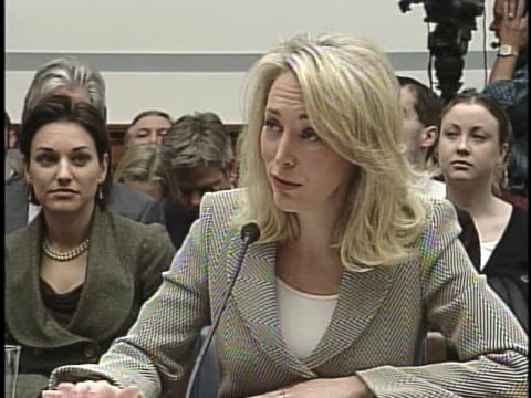ex-cia operative valerie plame wilson gives her testimony before the house committee on oversight and government reform during the cia leak case. - bedtime stock videos & royalty-free footage