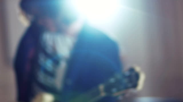 excited rock musicians rehearsing - guitarist stock videos & royalty-free footage