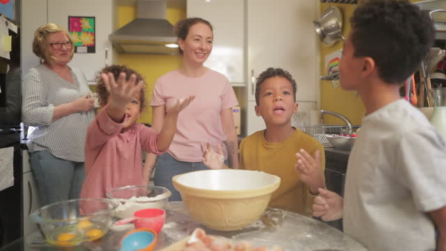 excitement in the kitchen - candid stock videos & royalty-free footage