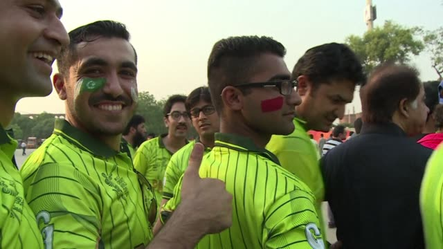 excitement is in the air at gaddafi stadium in lahore ahead of the first twenty20 match between zimbabwe and pakistan which marks the return of... - lahore stock videos and b-roll footage
