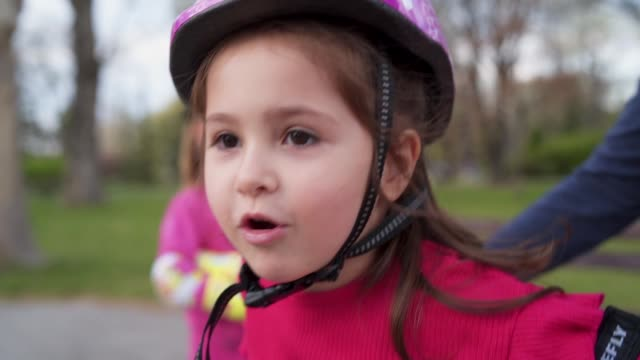 exciting little girl - elbow pad stock videos & royalty-free footage