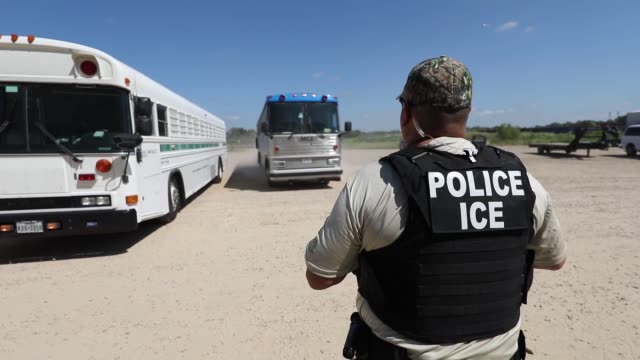 ice executes federal criminal search warrants in north texas - emigration and immigration stock videos & royalty-free footage