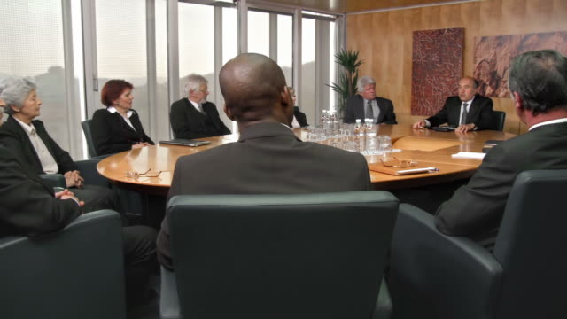 hd: executive board meeting - board room stock videos & royalty-free footage