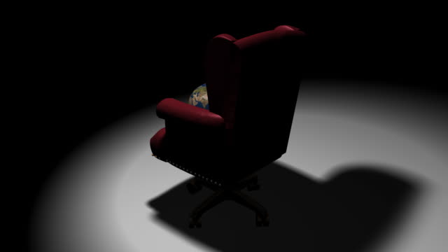 executive chair earth (hd loop) - office chair stock videos & royalty-free footage