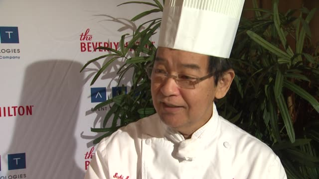interview executive chef suki sugiura on choosing the menu each year how far in advance he knows what he's preparing his favorite dish to make at the... - the beverly hilton hotel stock videos & royalty-free footage