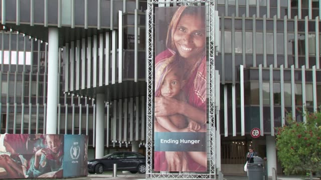 wfp executive director ertharin cousin says donor fatigue is not an option as the un organisation fights to get food to millions affected by the... - executive director stock videos & royalty-free footage
