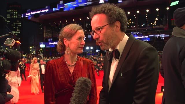 "executive director of berlinale mariette rissenbeek and artistiic director of berlinale carlo chagrin at the opening ceremony and ""my salinger year""... - film festival stock videos & royalty-free footage"
