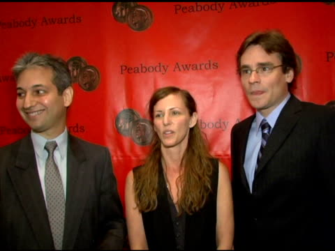 executive producers david shore and katie jacobs, and star robert sean leonard on their peabody for 'house' at the 65th annual peabody awards at the... - waldorf astoria new york stock videos & royalty-free footage