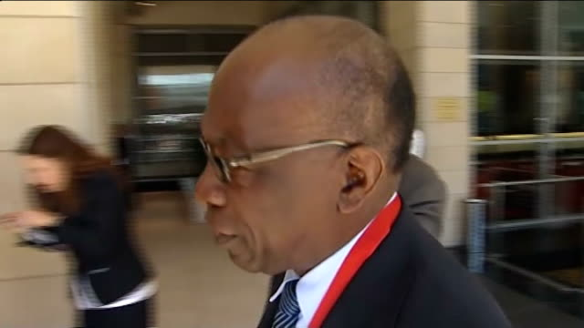 executives arriving for 2010 world cup draw jack warner arriving jack warner interview sot people taking photograph in front of 2010 world cup giant... - fifa world cup 2010 stock videos & royalty-free footage