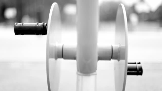 Cyclette, biciclette, bianco e nero