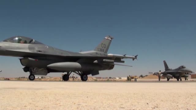 exercise eager lions falcon air meet 2013 the royal jordanian air force competed against the colorado national guard with multiple observer nations... - 2013 stock-videos und b-roll-filmmaterial