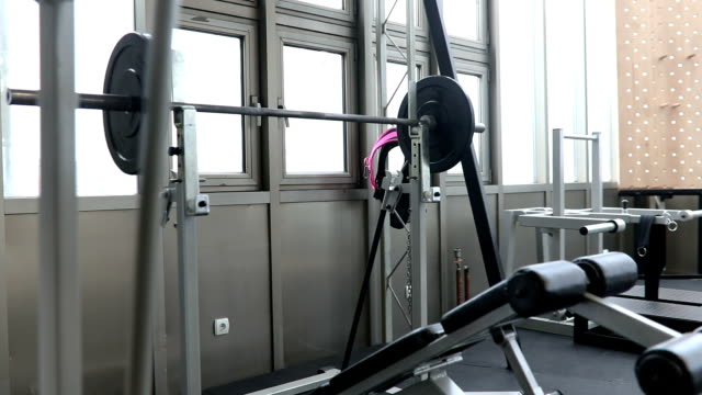 exercise gear in gym - mass unit of measurement stock videos and b-roll footage