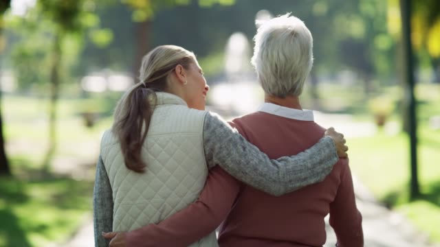 exercise is so important for seniors - mother and daughter stock videos and b-roll footage