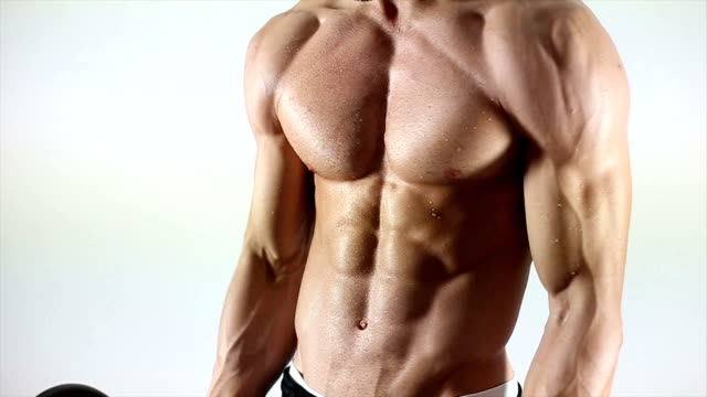 exercise with weights - body building stock videos & royalty-free footage
