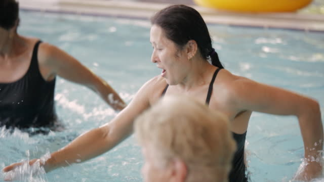 HA Exercisers working out in a pool / Vancouver, British Columbia, Canada