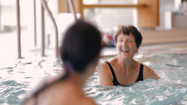 MS Exercisers working out in a pool / Vancouver, British Columbia, Canada