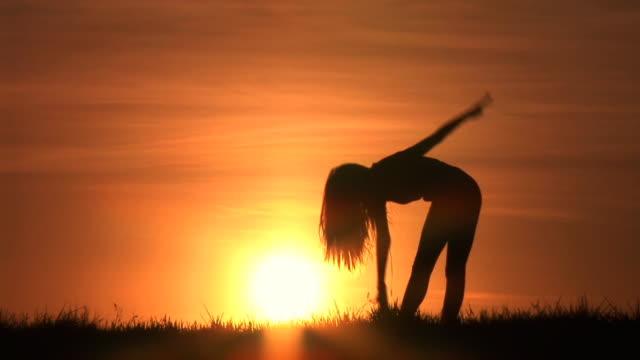HD: Exercising At Sunset