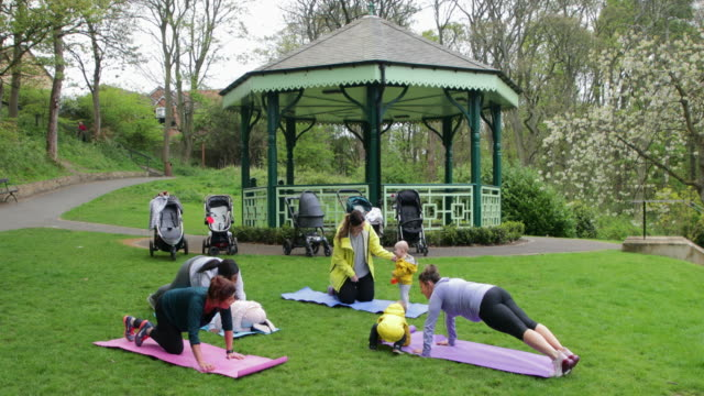 Exercising by A Bandstand