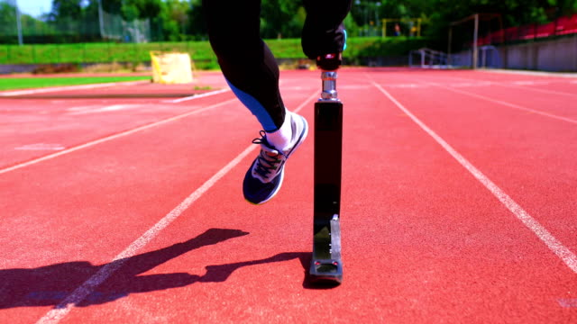 exercising with prosthetic leg. - artificial limb stock videos & royalty-free footage