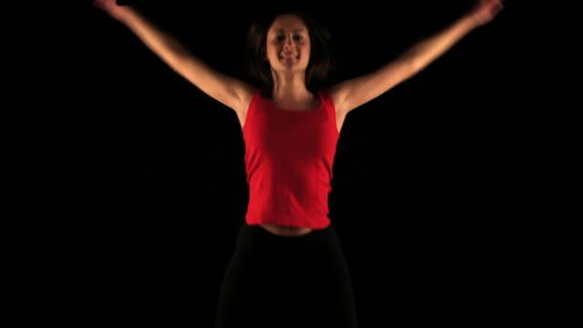 HD: Exercising woman