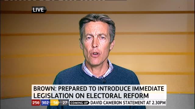 1330 1430 exeter ben bradshaw mp live interview on brown statement electoral reform sot - ジュリー エッチンガム点の映像素材/bロール