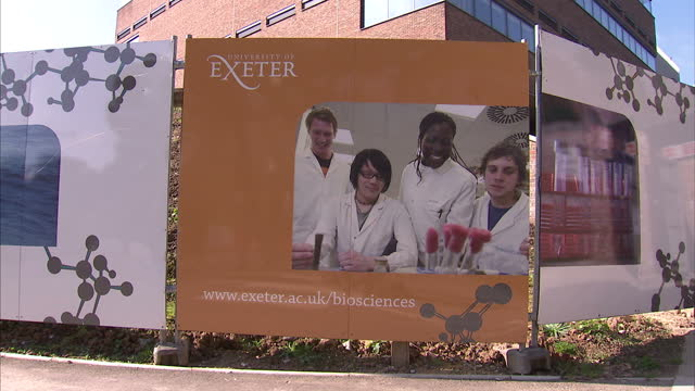 exeter has become the latest university to say it plans to charge students 9,000 pounds in tuition fees. it's the first outside the russell group,... - exeter england stock videos & royalty-free footage