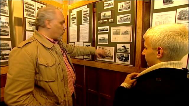vídeos de stock e filmes b-roll de exhibition celebrating 100th anniversary of the royal flying corps opened england hampshire farnborough farnborough air sciences trust museum int... - farnborough hampshire