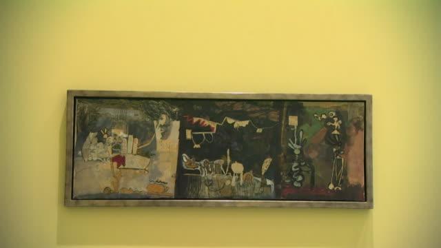 exhibition of artist dame paula rego paintings at mk gallery in milton keynes - museum stock videos & royalty-free footage