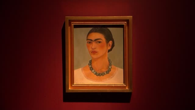 exhibition of the personal items of mexican artist frida kahlo opens in london; cutaways england: london: victoria and albert museum: int clothes... - museum stock videos & royalty-free footage