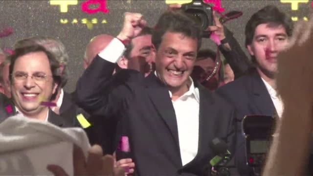 exit polls say argentinain opposition lawmaker sergio massa has defeated president christina kirchners candidate in midterm elections in buenos aires... - buenos aires province stock videos & royalty-free footage