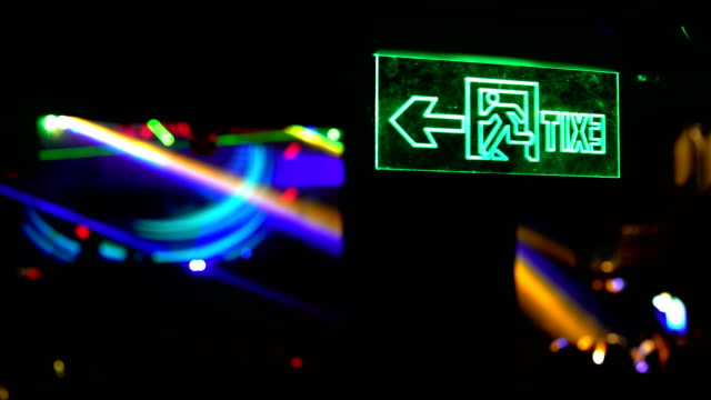 exit sign - exit sign stock videos & royalty-free footage