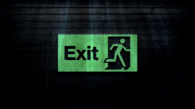 exit texture - exit sign stock videos & royalty-free footage