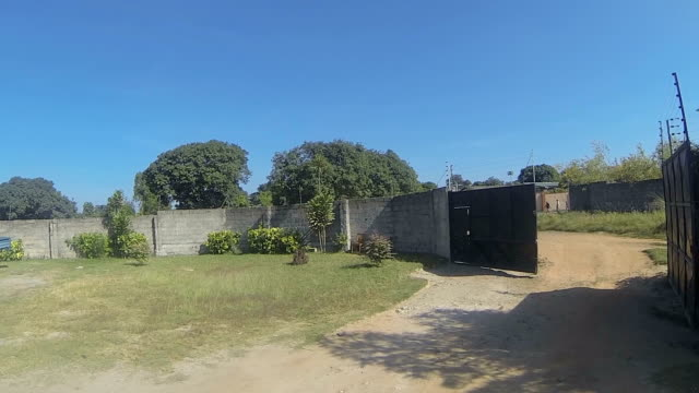 Exiting a compound: Kitwe, Zambia